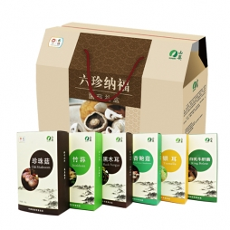 """中粮食品-山萃""""六珍纳福"""" 菌礼盒 礼品卡"""
