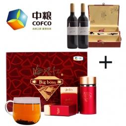 中粮中茶海堤红茶叶礼盒+中粮进口干红葡萄酒