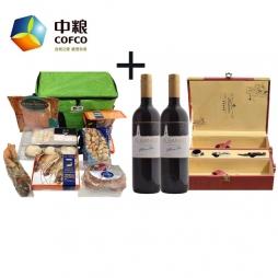 中粮进口海鲜A款+中粮爱博马酒园干红葡萄酒
