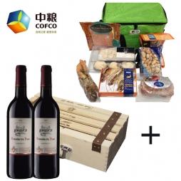 中粮波瑟酒庄进口干红葡萄酒+中粮进口海鲜C款