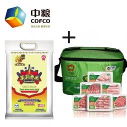 中粮泰国茉莉香米+中粮家佳康尊品猪肉礼盒