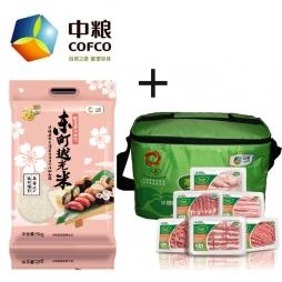 中粮家佳康尚品猪肉礼盒+中粮福临门东町越光米