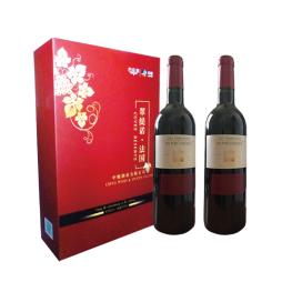 中粮原瓶进口法国进口翠缇若干红葡萄酒礼盒