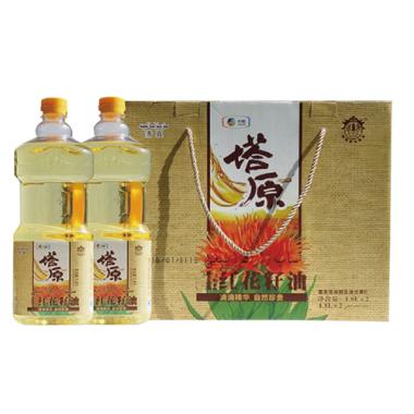 中粮塔原红花籽油礼盒1.8ML*2
